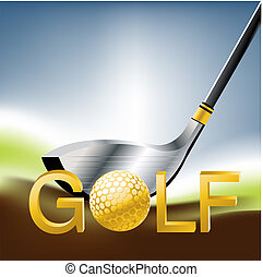 Golf Sport concept illustration .