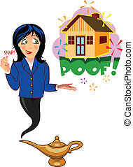 genie snapping her fingers - Realtor genie