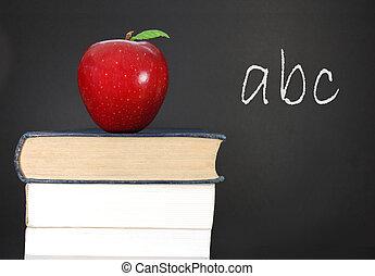 Abc written on a blackboard