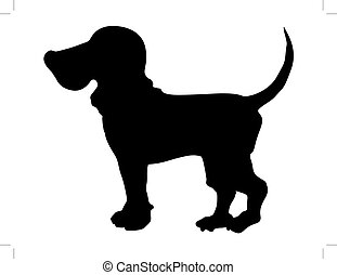 beagle - silhouette of beagle