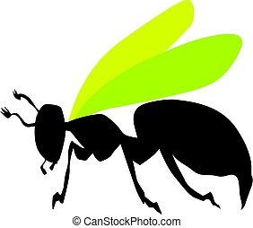 wasp - silhouette of wasp