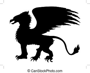 griffin - silhouette of griffin
