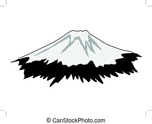 Mount Fuji - silhouette of Mount Fuji