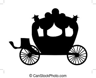 carriage - silhouette of carriage