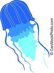 jellyfish - silhouette of jellyfish