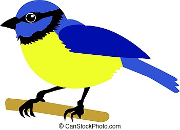 tit bird - vector illustration of tit bird