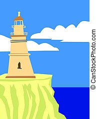 lighthouse at seaside