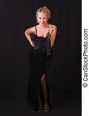 The Striptease Series 5 - Seductive Blonde in Black Velvet...