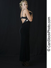 The Striptease Series 3 - Seductive Blonde in Black Velvet...