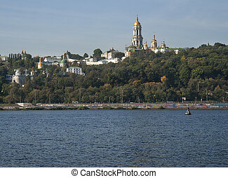 Kyi-Pechersk Lavra - View of Kyiv-Pechersk Lavra from the...