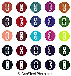 set of link connection buttons - internet website icons vector