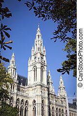 the town hall in Vienna Austria