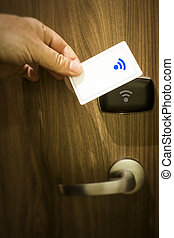 keyless door unlock - An image of a keyless door unlock