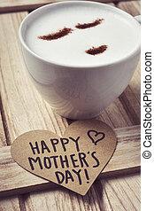 herz, glücklich,  Text, Tag, Mütter