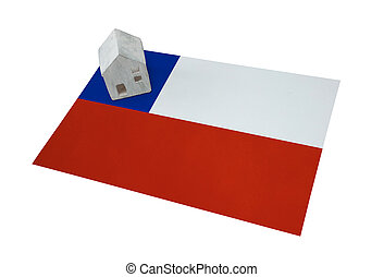Small house on a flag - Chile - Small house on a flag -...