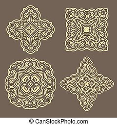 Arabic geometric pattern for festive design of the holiday of Ramadan or other oriental style art