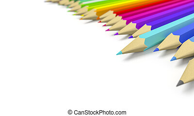 some color pencils with space for your content - 3d...