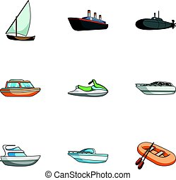 Sea transport, boats, ships. To transport people,...