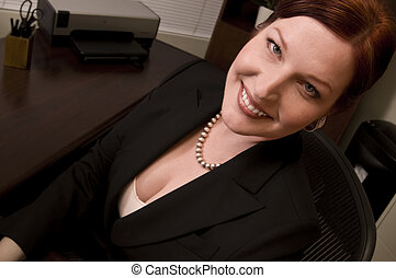 Business Woman - Portrait of corporate executive at her...