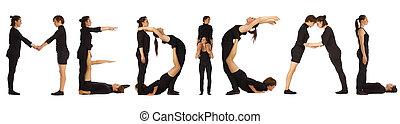 parola, Persone, vestito, medico, nero, formare