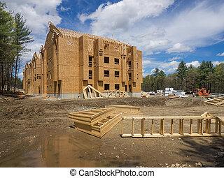 Apartamento, construção, local