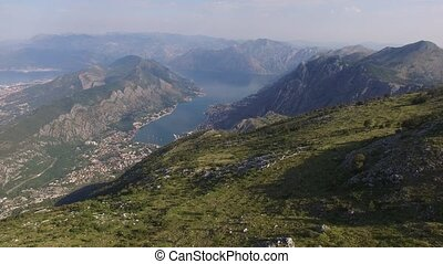 Bay of Kotor from the heights. View from Mount Lovcen to the...
