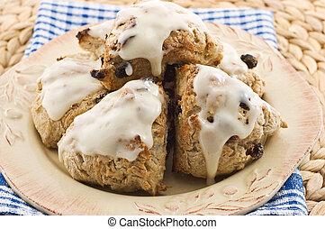 Cinnamon raisin scones - Fresh baked cinnamon raisin scones...