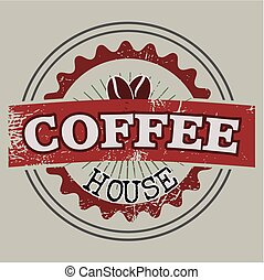 Coffee house label - Vintage label of a coffee house
