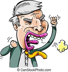 Angry Populist Politician - An populist politician man who...