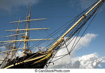 Tall Ship - Tall ship moored in Copenhagen, Denmark