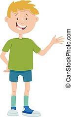 cartoon teen boy