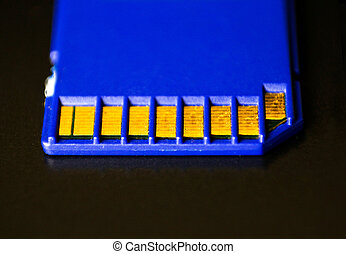 SD memory card. Blue is on the laptop. - SD memory card....