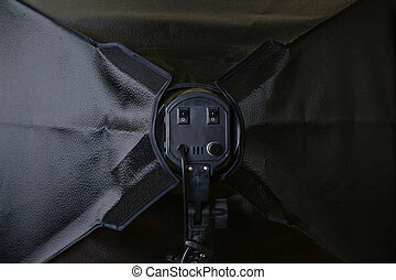 Softbox from behind.