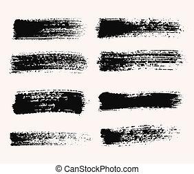Wide Brush Strokes - Vector grunge brush strokes backgrounds...