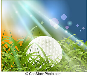Vector illustration of Golf Sport concept.