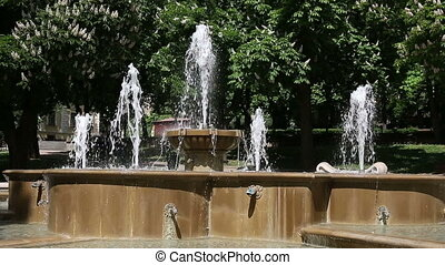 fountain in park Pecs Hungary