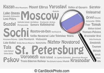 Travel destinations of Russia Concept