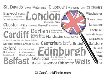 Travel destinations of Great Britain Concept - The...