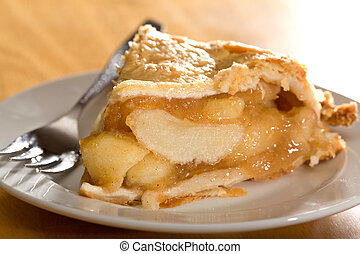 Deep Dish Apple Pie - Freshly baked deep dish apple pie...