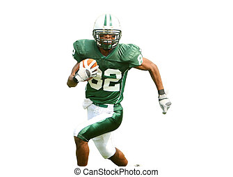 American Football Player - Isolation of American Football...