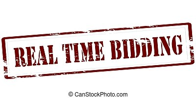 Real time bidding - Stamp with text real time bidding...