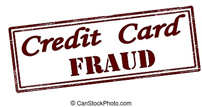 Credit card fraud - Stamp with text credit card fraud...