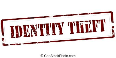 Identity theft - Stamp with text identity theft inside,...