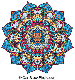 Colorful Mandala Flower 4