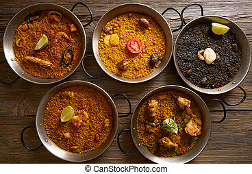 recetas, arroz, cinco,  paellas, españa
