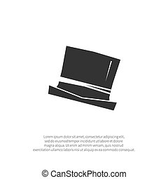 Top hat icon isolated on background. Vector illustration