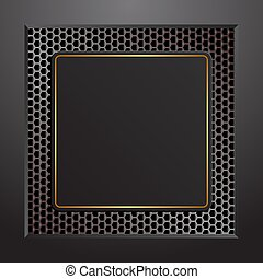 plaque - black plaque with golden frame