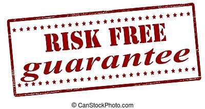 Risk free guarantee - Stamp with text risk free guarantee...