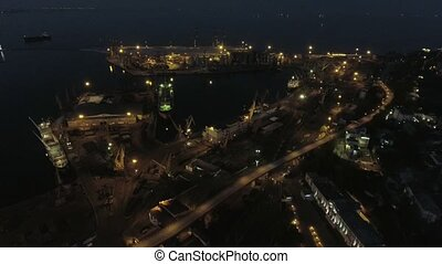 Aerial view on Odessa Sea Trade Port. Ukraine - Aerial view...