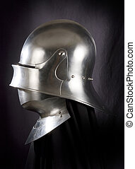 Armour of the medieval knight Metal protection of the...
